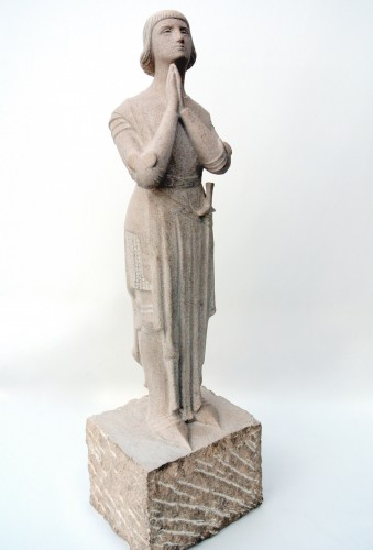 """""""Jeanne d'Arc in prayer""""  by Georges Salendre 1890/1985 - Sculpture Style 50"""