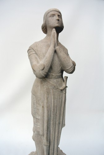 """20th century - """"Jeanne d'Arc in prayer""""  by Georges Salendre 1890/1985"""