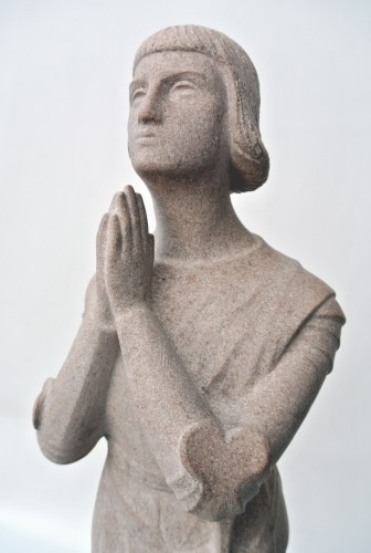"""""""Jeanne d'Arc in prayer""""  by Georges Salendre 1890/1985 - 50"""