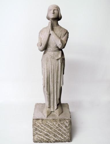 "Antiquités - ""Jeanne d'Arc in prayer""  by Georges Salendre 1890/1985"
