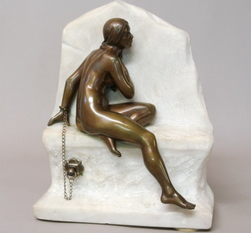 Chained Andromeda, Gustave Obiols 1858/1910 - Sculpture Style Art Déco