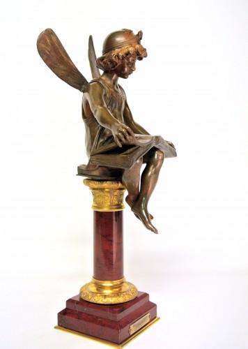 """""""Génius of Science"""", Alfred-Joseph Charron (1863/1955) - Sculpture Style Art nouveau"""