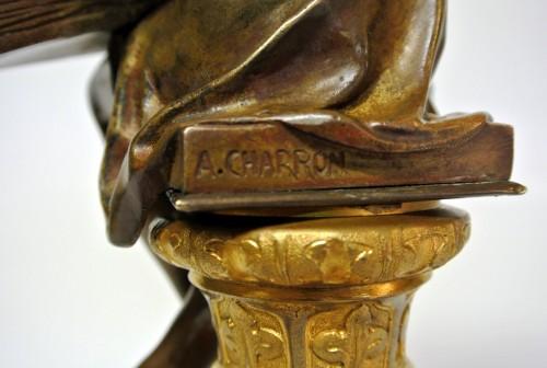 """Antiquités - """"Génius of Science"""", Alfred-Joseph Charron (1863/1955)"""