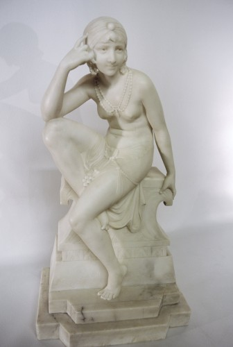 Oriental dancer Telemaco Cipriani (XIXème/XXème) - Sculpture Style Art Déco