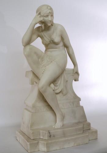 Sculpture  - Oriental dancer Telemaco Cipriani (XIXème/XXème)