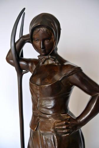 The Faneuse - Alfred Boucher (1850-1934) - Art nouveau