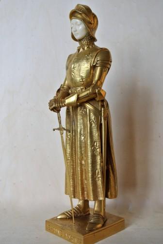 """""""Jehanne la Sainte"""" Prosper d'Epinay (1836/1914) - Sculpture Style Art nouveau"""