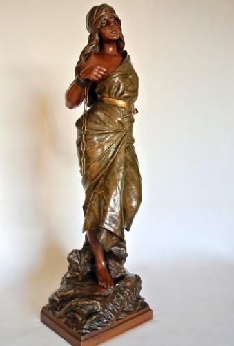 """""""Prise de corsaire"""" Emmanuel Villanis (1858/1914) - Sculpture Style Art nouveau"""
