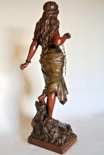 """Sculpture  - """"Prise de corsaire"""" Emmanuel Villanis (1858/1914)"""