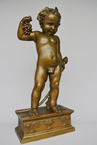 Bacchus enfant, Antonin Carlès (1851/1919) - Sculpture Style Art nouveau