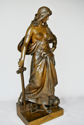 """Judith"" Eugène Aizelin (1821/1902) - Sculpture Style Napoléon III"