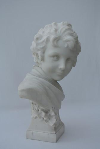 Cupidon, Léonard Agathon (1841/1923) - Sculpture Style Art nouveau