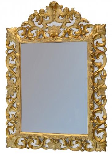 Miroir à fronton d'époque XIXème