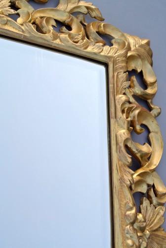19th century - Miroir à fronton d'époque XIXème