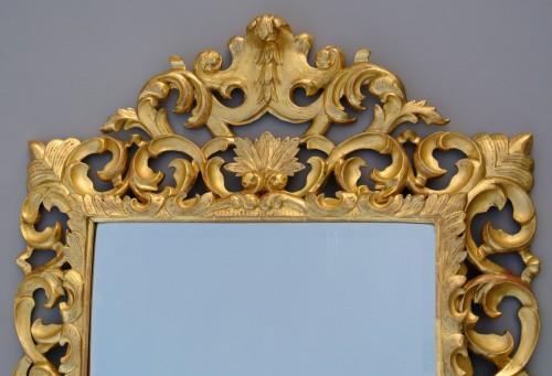 Miroir à fronton d'époque XIXème - Napoléon III