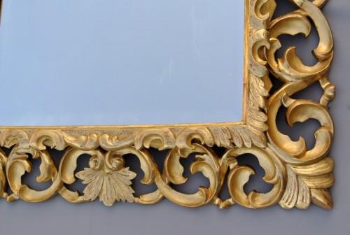 Napoléon III - Miroir à fronton d'époque XIXème