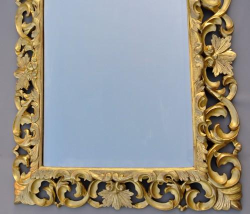 Antiquités - Miroir à fronton d'époque XIXème