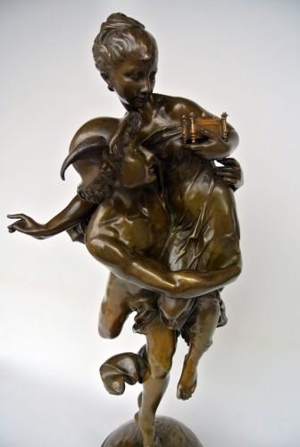 Sculpture  - Mercure et Pandore, Vincent Désiré Faure de Broussé (1855/1908)