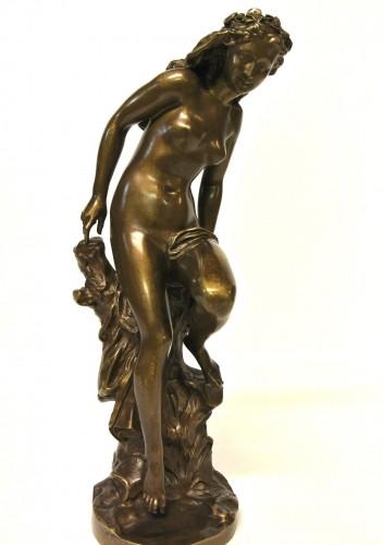 """La Frileuse"" Jean-Baptiste Carpeaux (1827/1875) - Sculpture Style Art nouveau"
