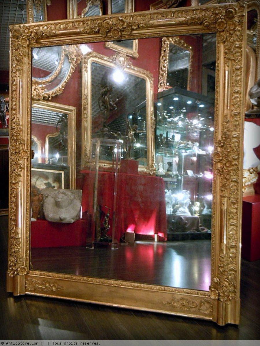 Miroir empire restauration xixe si cle for Restauration miroir