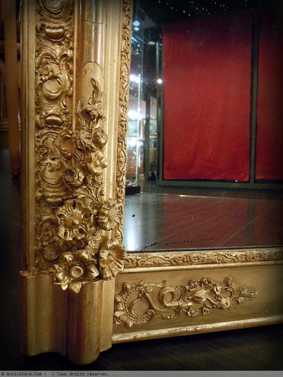 Miroir empire restauration xixe si cle for Restauration miroir ancien