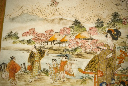 Ryozan – A Japanese plate of Kyoto view - Asian Art & Antiques Style