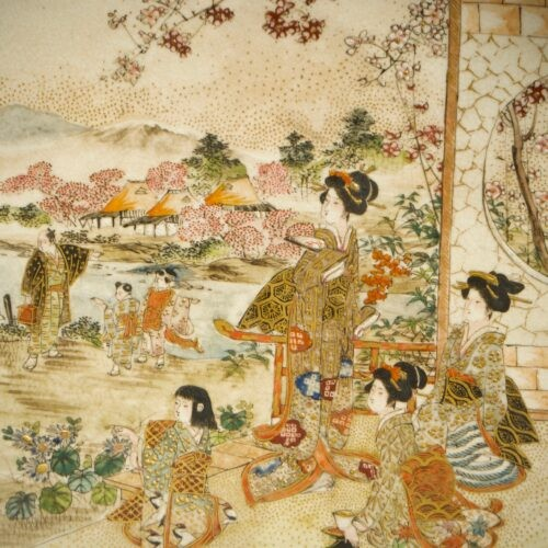 Asian Art & Antiques  - Ryozan – A Japanese plate of Kyoto view