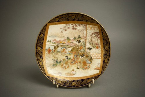 19th century - Ryozan – A Japanese plate of Kyoto view