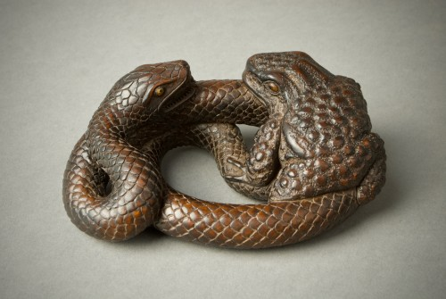 Asian Art & Antiques  - Ryonaga – Snake and Toad