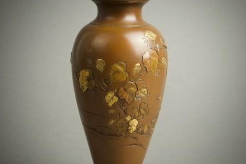 Hatayama - Two Japanese mixed metal vases - Asian Art & Antiques Style