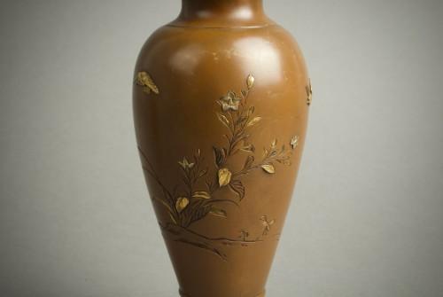Asian Art & Antiques  - Hatayama - Two Japanese mixed metal vases
