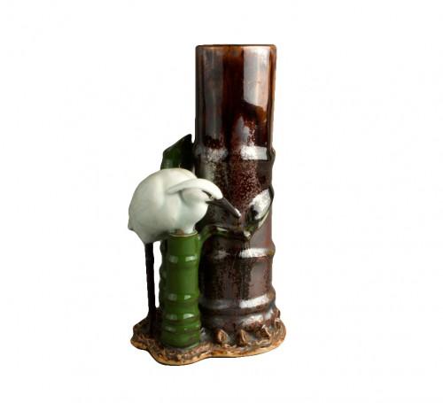 A Japanese ikebana vase