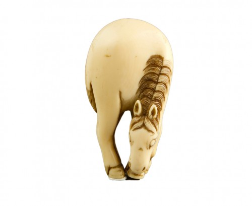 A Japanese ivory horse