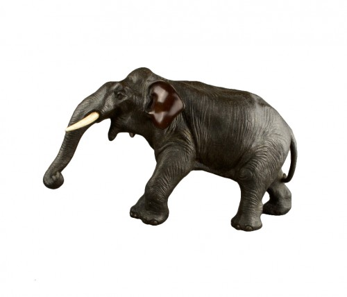 A Japanese bronze elephant