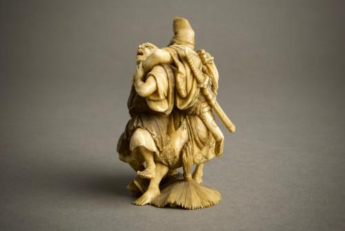 Antiquités - Suisen – A Japanese okimono of Taira no Tadamori