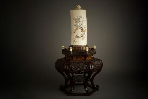 Ryomune – A Japanese Shibayama ivory tusk - Asian Art & Antiques Style