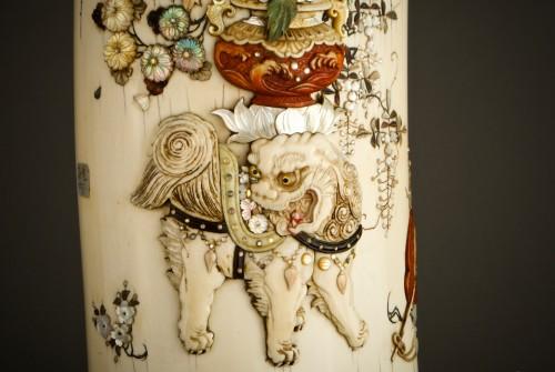 Antiquités - Ryomune – A Japanese Shibayama ivory tusk