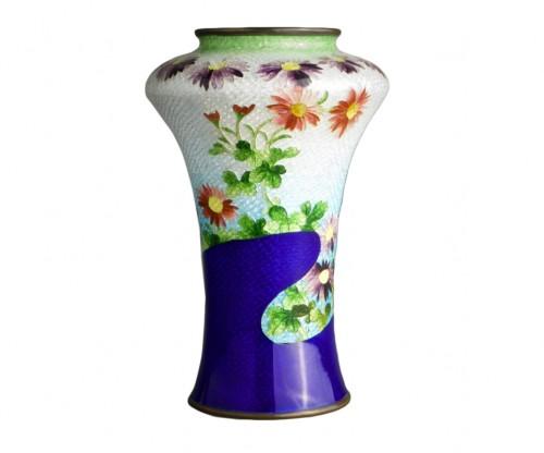 A Japanese cloisonnè vase