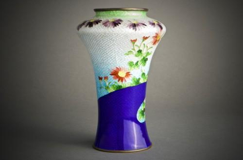 A Japanese cloisonnè vase  -