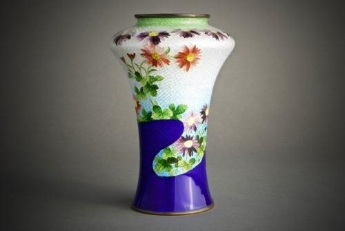19th century - A Japanese cloisonnè vase