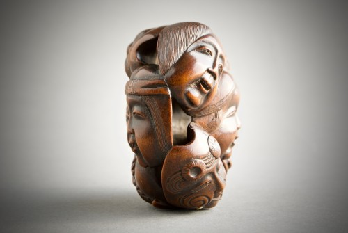 Asian Art & Antiques  - A Japanese netsuke of N?h and Kyogen theatre masks