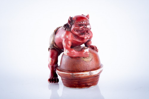 Tomomasa - A Japanese netsuke of an oni - Asian Art & Antiques Style