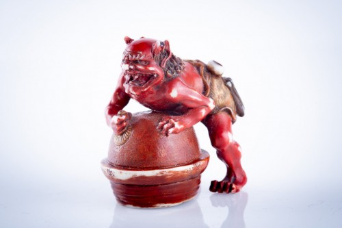 Tomomasa - A Japanese netsuke of an oni -