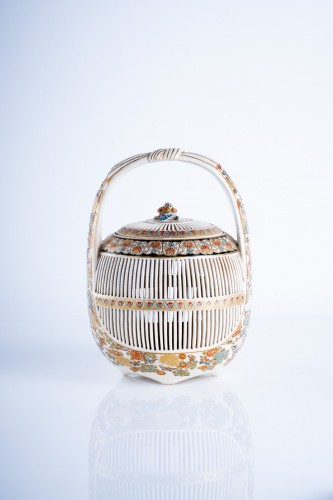 A Japanese Satsuma of a cricket cage - Asian Art & Antiques Style