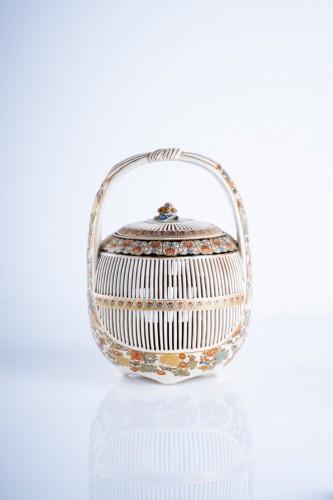 - A Japanese Satsuma of a cricket cage