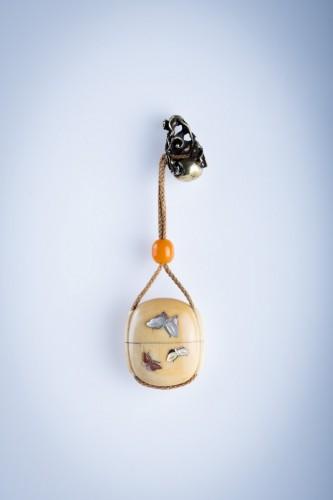 - A Japanese ivory and shibayama inro
