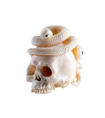 A Japanese ivory vanitas