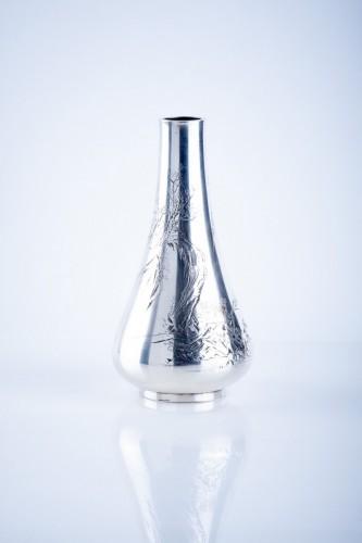 19th century - Gentoshi – A Japanese silver vase