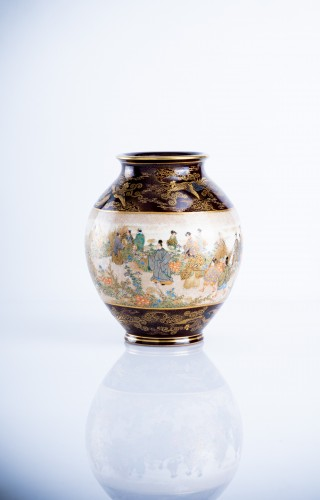 Kinkozan Sobei - A Japanese Satsuma vase - Asian Art & Antiques Style