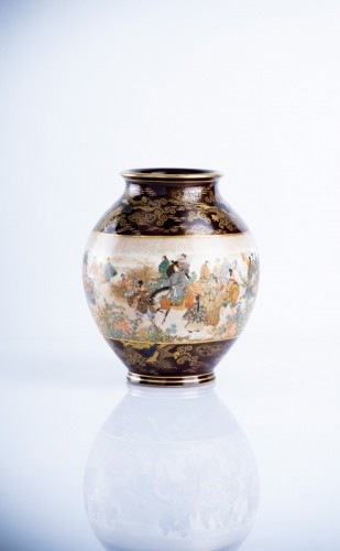 19th century - Kinkozan Sobei - A Japanese Satsuma vase